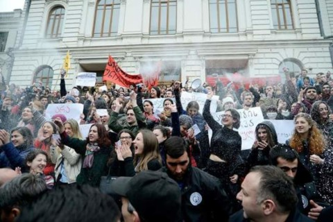 Beyond top-down democratisation: protests of Georgian students, 'ravers' and workers