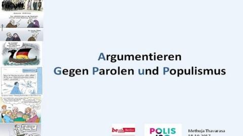 18 OKT | Kommunikationstraining gegen Parolen und Populismus