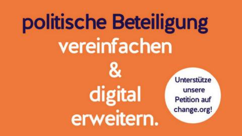 Launch der Petition: Politische Beteiligung vereinfachen und digital erweitern